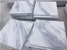 Blue Sky White China Marble Wall Panel Tile,Machine Cutting Slabs Floor Cover Interior