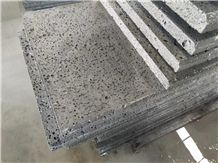 China Volcano Black Basalt Moon Surface Panel Tile Floor Cover,Exterior