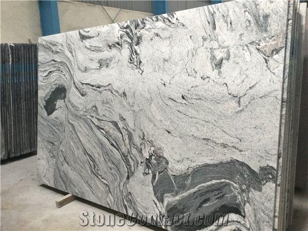 India Viscon White Granite Grey Veins Slab Cosmic Floor Tile