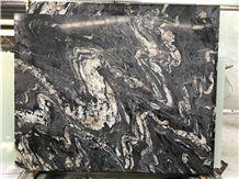 Titanium Black Swan Granite Brazil Panel Slabs,Brazil Nero Gold Veins Tiles Wall Floor Covering