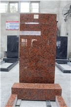 Indian Red Classical Upright Tombstone