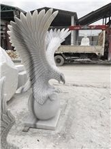 Hand Carved Eagle, Stone Sculpture, Carving Stone, Handicraft