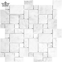 White Carrara Marble Versailles Pattern for Floor Covering,Skirting