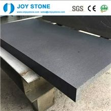 Chinese Cheap Custom Size Tiles Hainan Black Basalt Floor