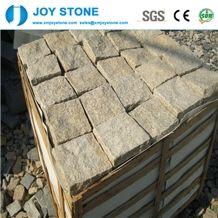G682 Yellow Natural Granite Cubestone Customized Size
