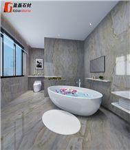Magic Seaweed Marble Bathroom Interior Design