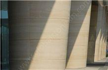 Serpeggiante Marble Column, Serpeggiante Tiles, Beige Marble Tiles