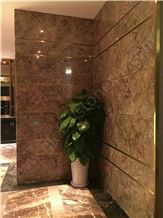 Violet Gold Marble Interior Decorations