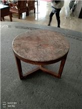 Violet Gold Marble Round Tables