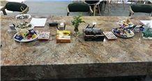 Violet Gold Marble Tabletops