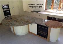 Best Fusion Gold Granite Kitchen Worktop London with Astrum Granite