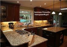 Copenhagen Gold Granite Kitchen Worktop at Best Price in London