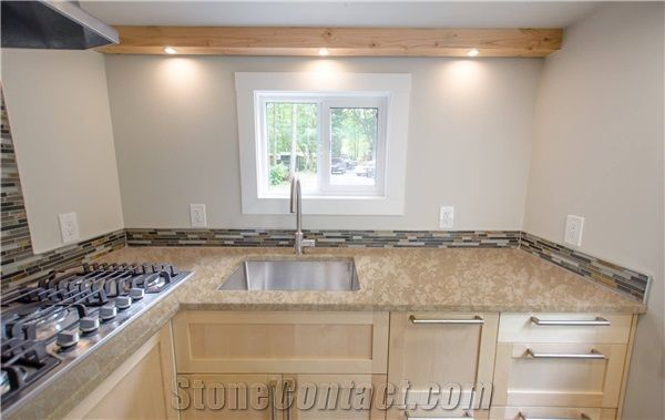 Beige White Solid Surface Countertops