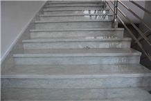 Randy Silver Line for Staircase, Grey Marble Stair