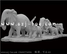 Elephants Sculpture