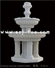 White Granite Sculpture Fountain Garden Fountain