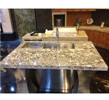 Bianco Antico Potiguar Aran White Granite Kitchen Countertops