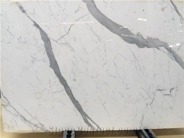 Calacatta White Marble Tiles Arabeo Corchia Statuario