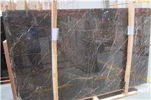 China Dark Emperador Marble St Laurent Brown Black Grey Marble Slabs