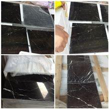 China Nero St Laurent 10mm Brown Black Grey Marble Tile