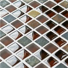 Cobblestone Copper Mixed Mosaic Tiles