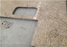 Giallo Ornamental Granite Solid Surface Kitchen Island Counter Tops
