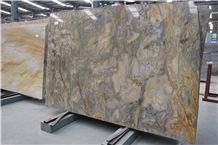 Midnight Fusion Quartzite Titanium Golden Silk Road Quartzite Slabs