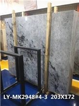 New White Jade Blue Ice Translucent Marble Slabs