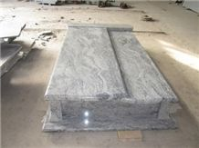 Poland Style Grey Dragon Wave Tombstone
