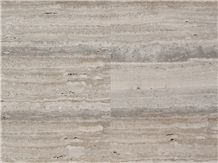 Silver Grey Striato Domus Vein Cut Travertine Tile / Slab