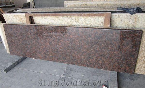 Tan Brown Prefab Granite Kitchen Countertop