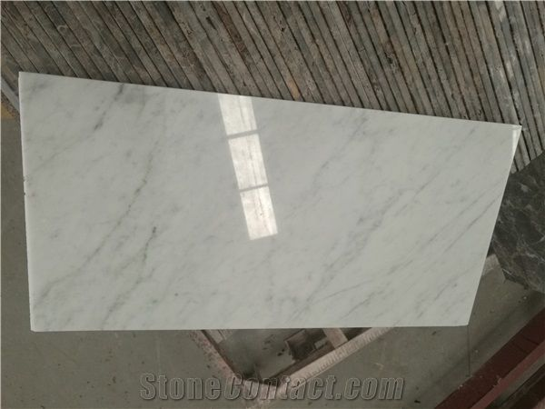 Bianco White Carrara 10mm Marble Tile