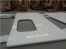 White Quartz Stone Solid Surface Kitchen Countertops