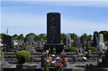 Long Vertical Rectangular Japanese Style Tombstone