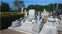 Uchigaki Ishi Grey Granite Japanese Tombstone