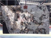 Branco Tourmaline Granite Slabs for Countertop Background
