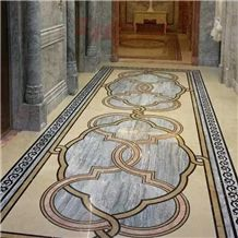 Cloudy Grey Marble Slabs for Carpet Medallions