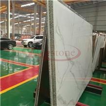 Laminate Panel Bianco Calacatta White Marble Tile
