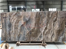 Roman Impression Blue Marble Wooden Marble Slabs