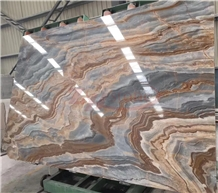Roman Impression Marble Seawave Veins Marble Slabs