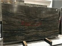 Shangri La Dark Brown Quartzite Slabs for Wall&Floor Tile Covering