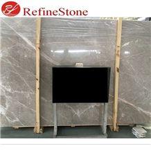 Kasiki Grey Marble Tile Slab, Light Grey Marble Slab Tile