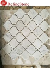 White Marble Mosaic Tiles for Wall Decoration
