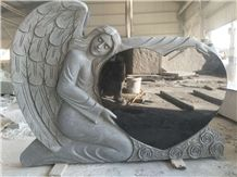 Beautiful Angel with Heart Gravestone/Tombstone