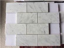 Carrara White Marble Rectangle Mosaic for Bathroom