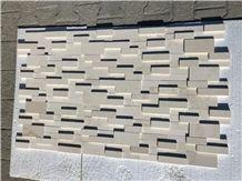 Limestone Honed Cubic Ledgestone Panel