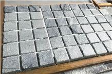 Parnon Grey Bush-Hammered & Brushed Mosaic