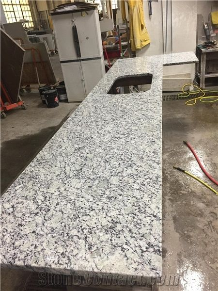 Custom Cut Granite Countertops White Kitchen
