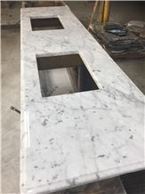 Custom Made Marble Kitchen Countertops Bianco Carrara Kitchen Top