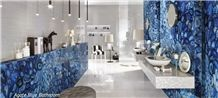 Semiprecious Gemstone Blue Agate for Bathroom Project